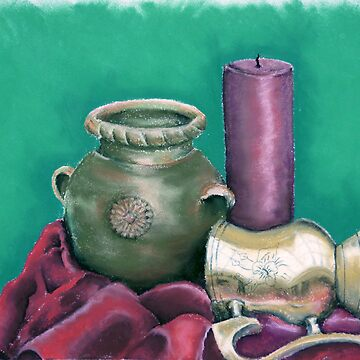 The pot, the candle and the soccer trophy by Picatso