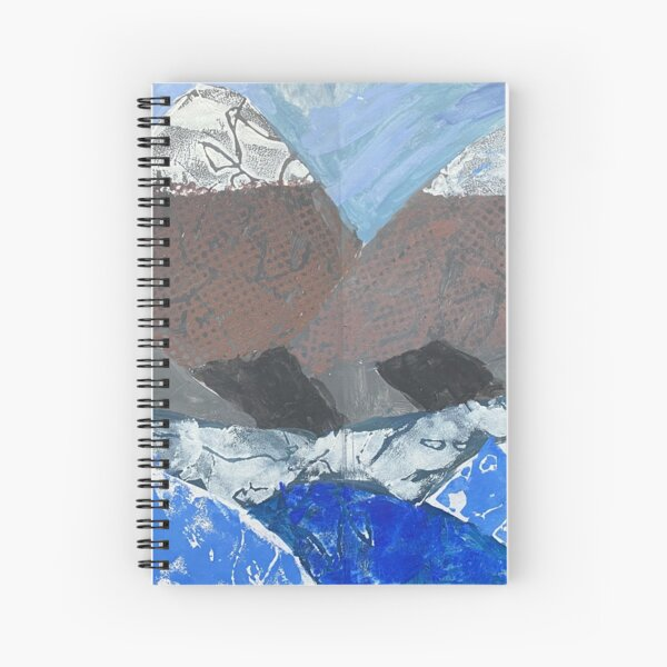 Snow Topped Mountains over the Ocean Print Work Spiral Notebook