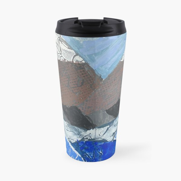 Snow Topped Mountains over the Ocean Print Work Travel Mug