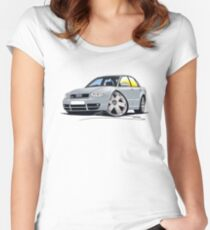 Audi S4 (B5) Silver Women's Fitted Scoop T-Shirt