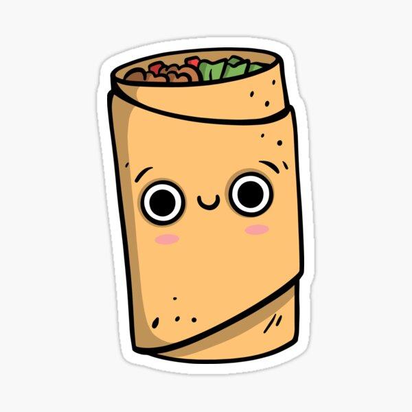 Niedlicher Cartoon Burrito Charakter Sticker