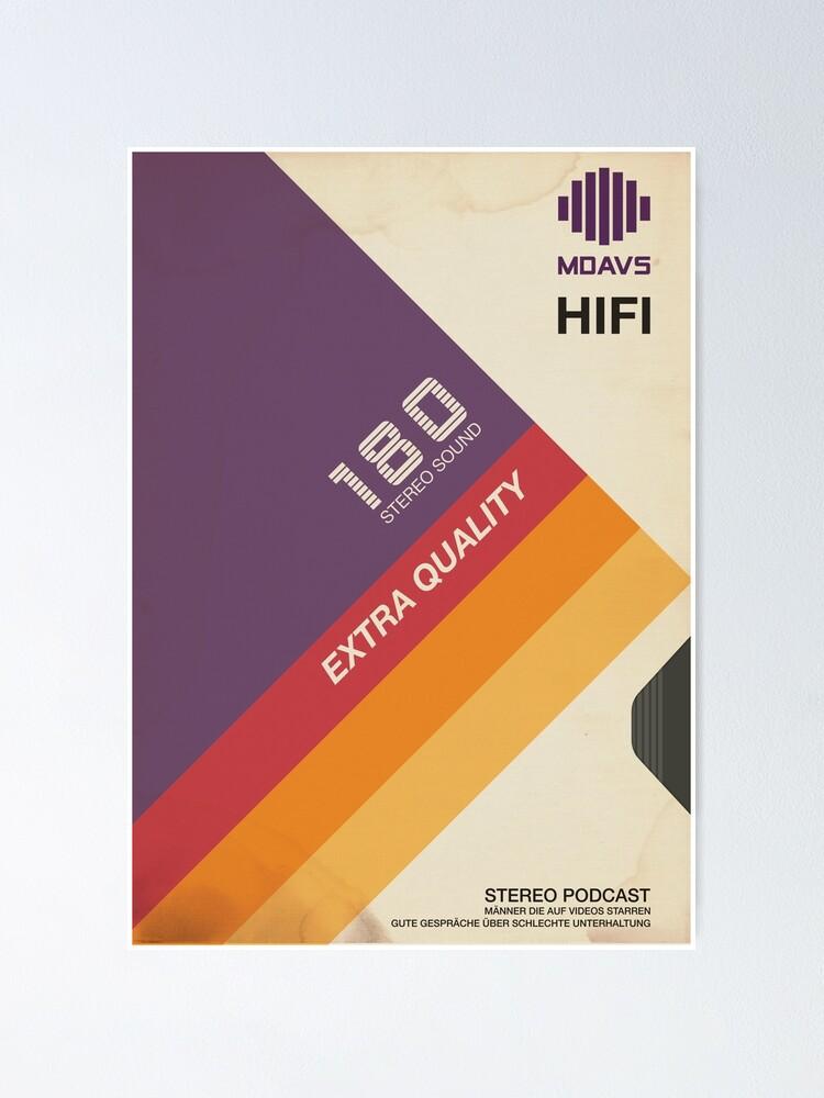 Alternative Ansicht von VHS Videokassette Hülle Retro Poster