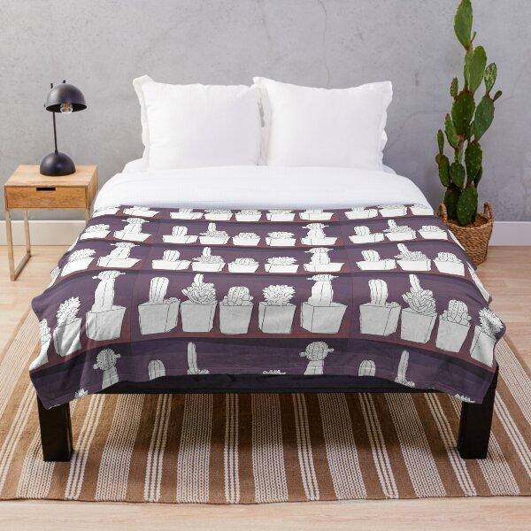 Sunset Cacti Throw Blanket