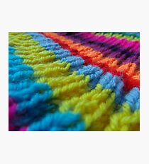 Rainbow knit Photographic Print