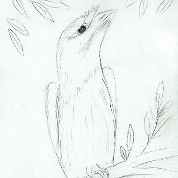 Tawny Frogmouth Sketch by georgiegirl