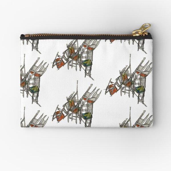 Crazy Stacking Chairs Zipper Pouch
