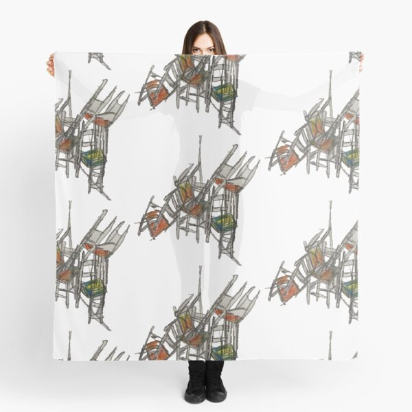 Crazy Stacking Chairs Scarf