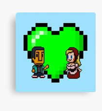 Love in 8-bit: Abed and Hilda (style A) Canvas Print