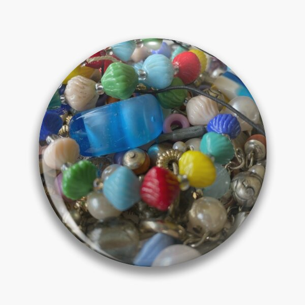 Colourful Bead Pile 'Looks Like Candy' Pin