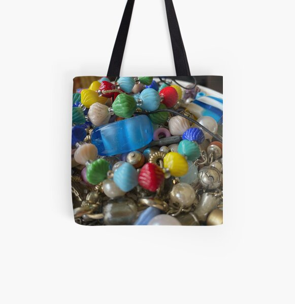 Colourful Bead Pile 'Looks Like Candy' All Over Print Tote Bag