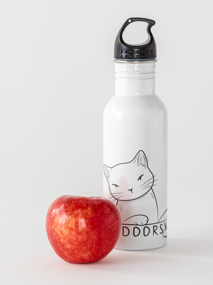 Alternate view of Indoorsy little white cat Water Bottle