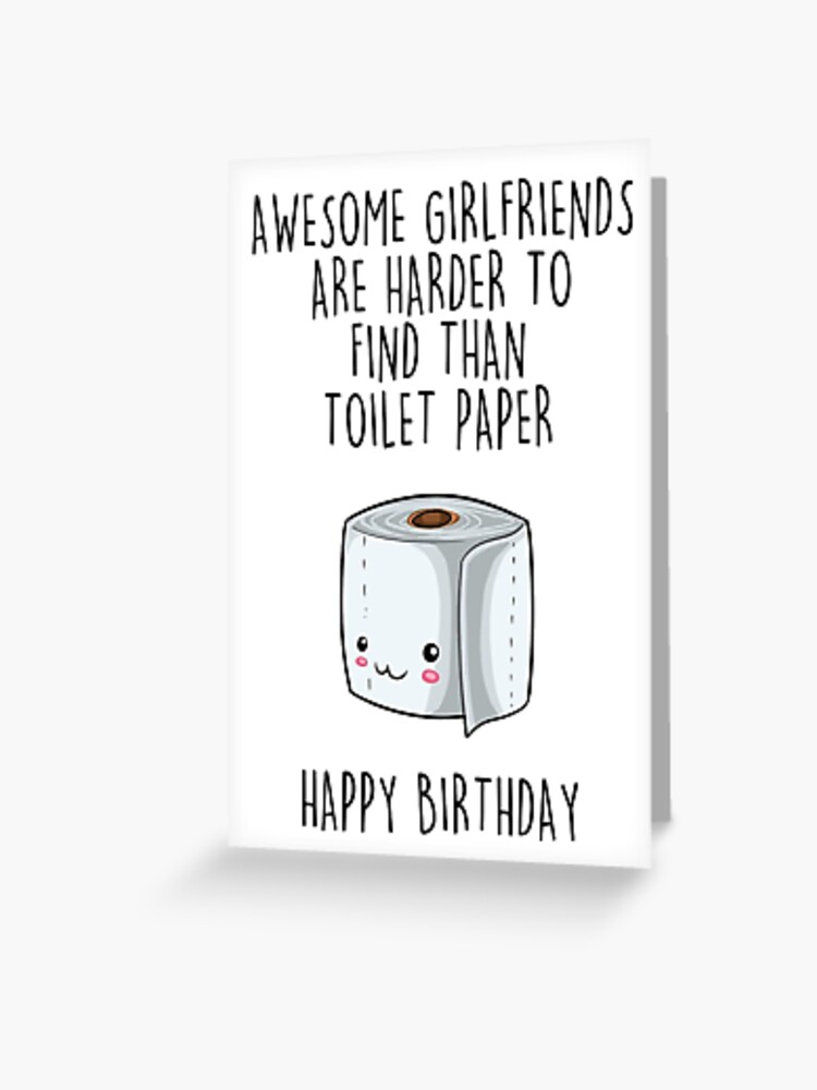 Surprising Birthday Card Awesome Girlfriend Toilet Paper Greeting Card Personalised Birthday Cards Paralily Jamesorg