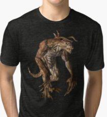 Pixel Deathclaw Tri-blend T-Shirt