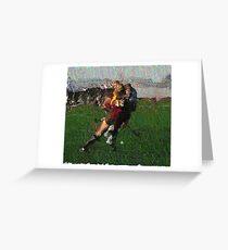 110711 162 0 pointillist field hockey displace Greeting Card