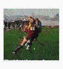 110711 162 0 pointillist field hockey displace Photographic Print