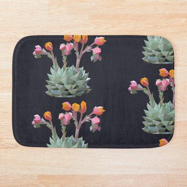 Blooming Succulent Bath Mat