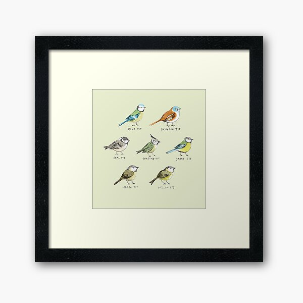 The Tit Family Framed Art Print