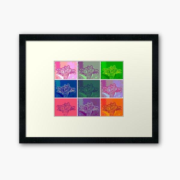 Vase of Flowers Pop Art #17 Designed & Created by © Janet Watson Art Framed Art Print