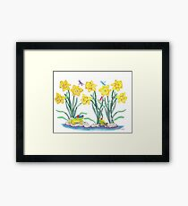 Daffodil Parade Framed Print