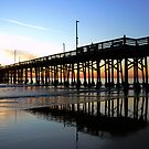 Newport Pier Sunset by Tom Deters
