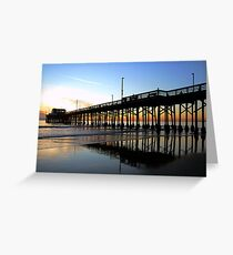 Newport Pier Sunset Greeting Card