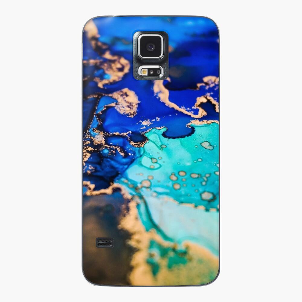 Alcohol Ink Beauty Hülle & Klebefolie für Samsung Galaxy