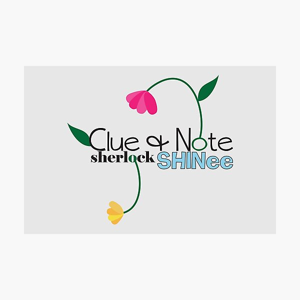 Clue & Note  Photographic Print
