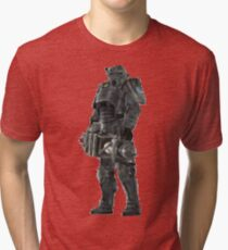 Pixel Brother of Steel Paladin Tri-blend T-Shirt
