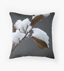 an early snow... Throw Pillow