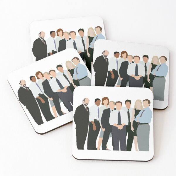 The West Wing Characters Silhouette Coasters (Set of 4)