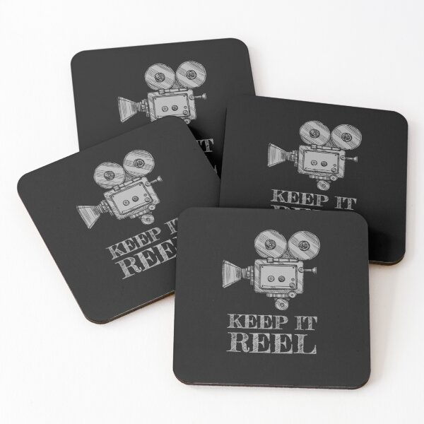 Keep It Reel for Filmmakers, Film Students and Movie Buffs Coasters (Set of 4)
