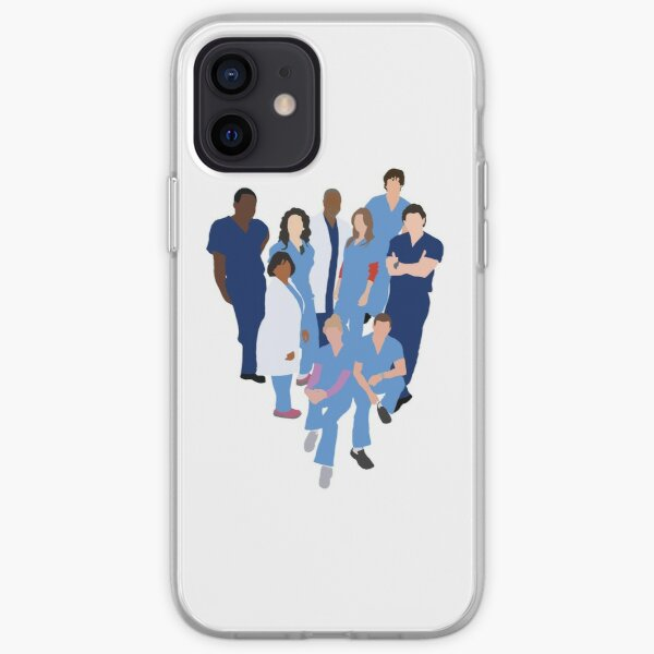 Greys Anatomy Character Silhouette iPhone Soft Case