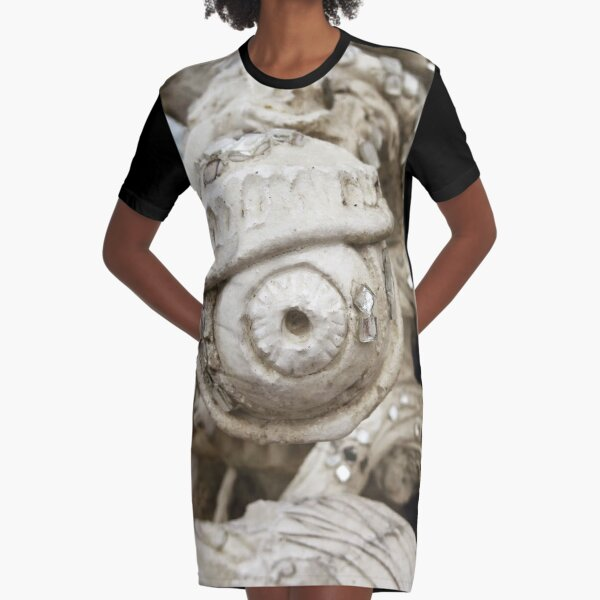 All Seeing Eye from the White Temple Chang Mai Graphic T-Shirt Dress