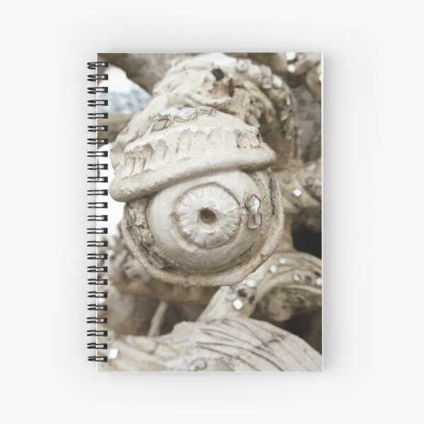 All Seeing Eye from the White Temple Chang Mai Spiral Notebook