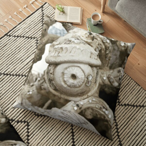 All Seeing Eye from the White Temple Chang Mai Floor Pillow