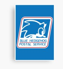 BLUE HEDGEHOG POSTAL SERVICE Canvas Print