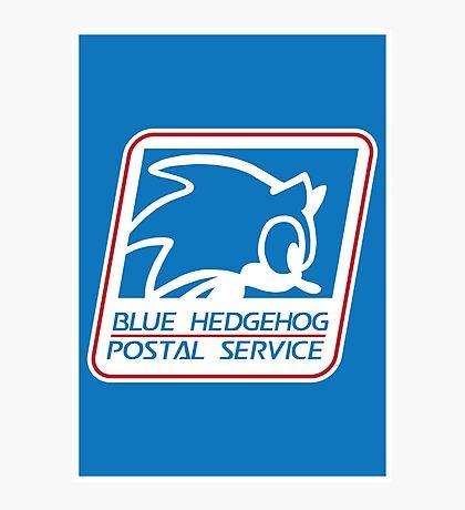 BLUE HEDGEHOG POSTAL SERVICE Photographic Print