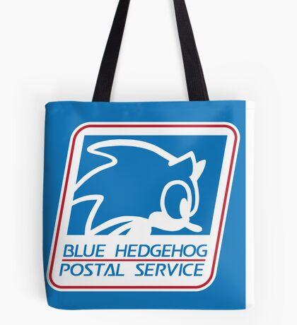 BLUE HEDGEHOG POSTAL SERVICE Tote Bag