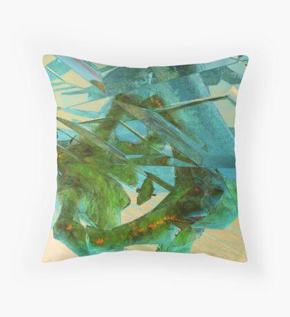 3d Fractal Throw Pillow