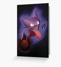 Pokemon - Haunter used Shadowball! Greeting Card