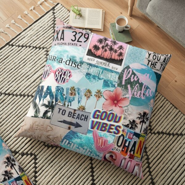 Cool collage Floor Pillow