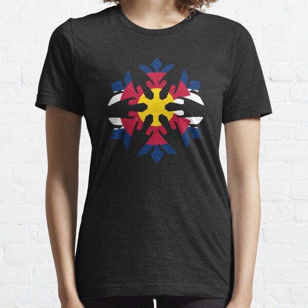Colorado Flag Winter Snowflake Design Essential T-Shirt