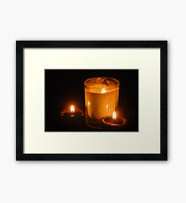 NAKED FLAME Framed Print