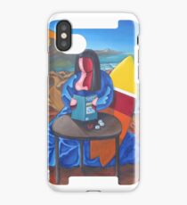 Mona lisa was a surfer iPhone Case