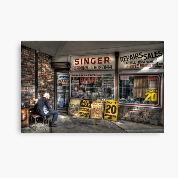 An old sewing shop in Liverpool Canvas Print