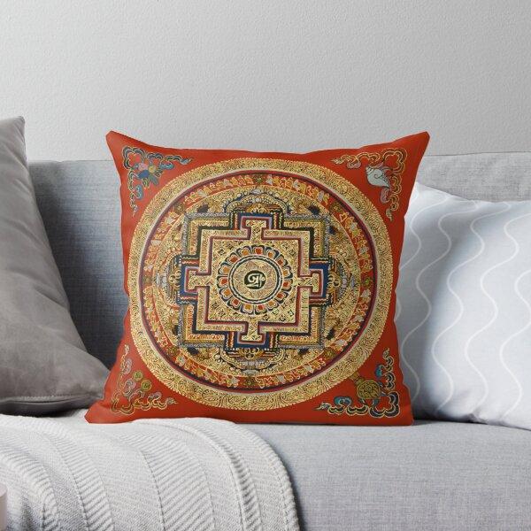 TIBET, Tibetan, Mandala. Throw Pillow