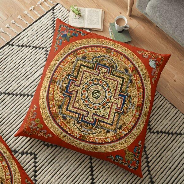 TIBET, Tibetan, Mandala. Floor Pillow