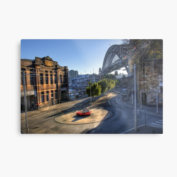 The Red Car and Two-tonne Rock Metal Print