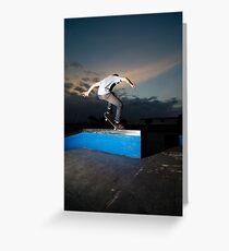 Skateboarder on a grind Greeting Card
