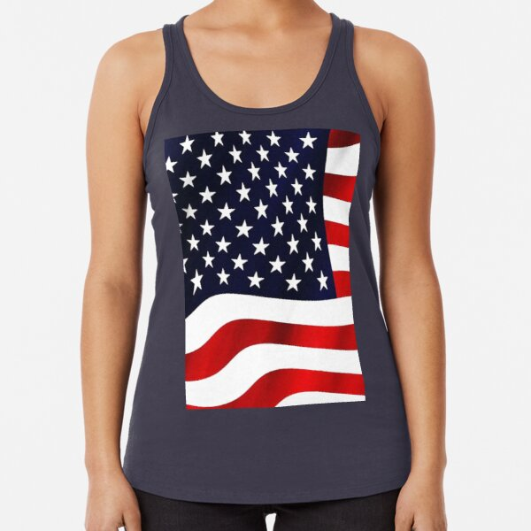 Old Glory Stars and Stripes AR15 Black Adult Tank Top